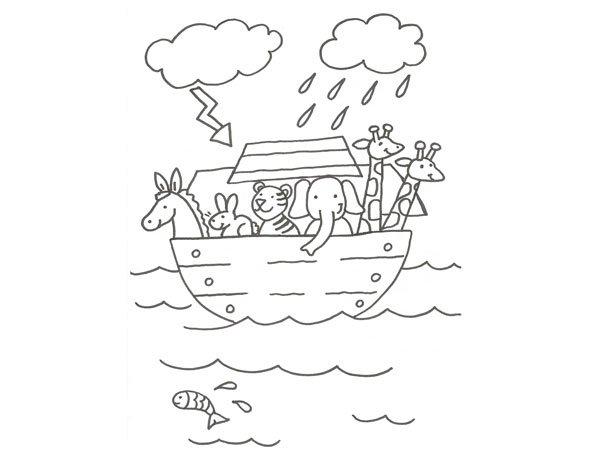 del Arca de No para pintar con los nios