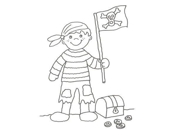para pintar con nios de un pirata y su bandera