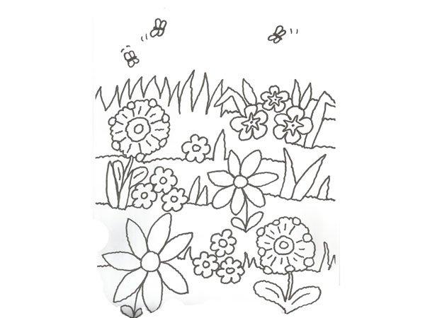 Worksheet. de flores y abejas para colorear con nios