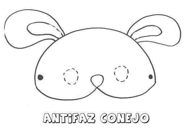 Antifaz De Conejo Dibujos Para Colorear Con Los Ninos