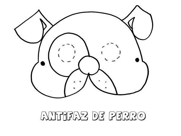 Antifaz de perro dibujos para colorear con los ni os for Actividades con cartulina para ninos