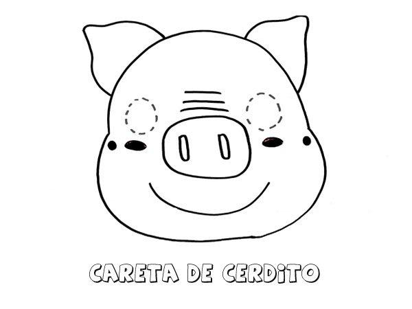 Careta De Cerdo Dibujos Para Colorear Con Los Niños