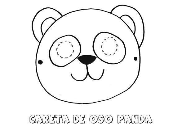 Careta de oso. Dibujos para colorear con los niños