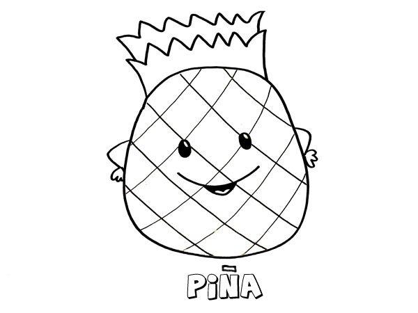 Dibujo De Una Piña Imágenes Para Pintar Con Niños