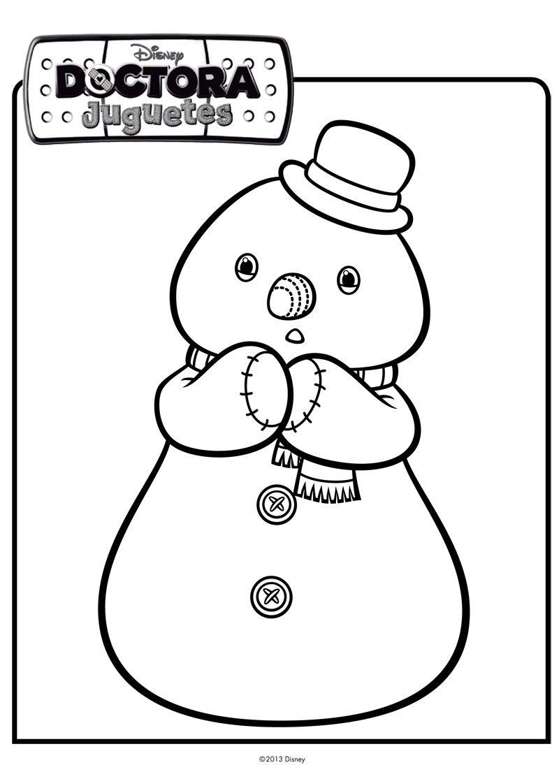 de muñeco de nieve. Dibujos de Disney para colorear