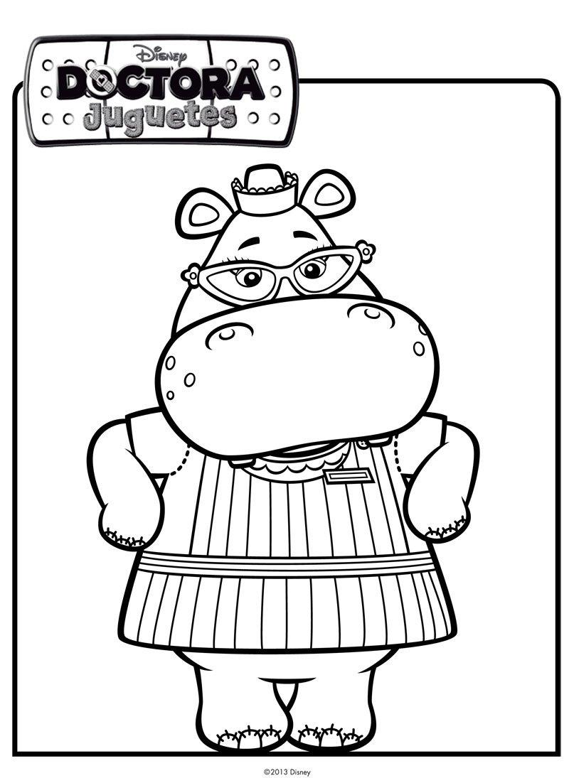 Dibujo de la hipopótamo de Doctora Juguetes para pintar