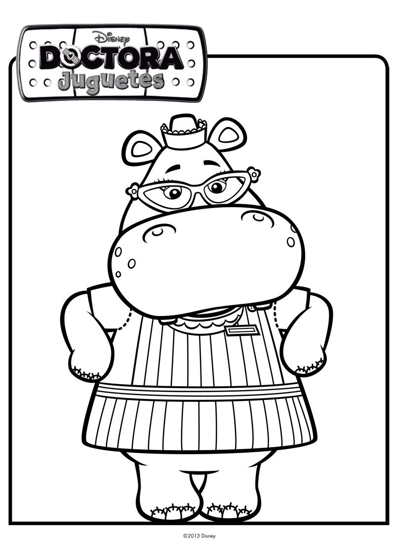 Imprimir: Dibujo de la hipopótamo de Doctora Juguetes para pintar