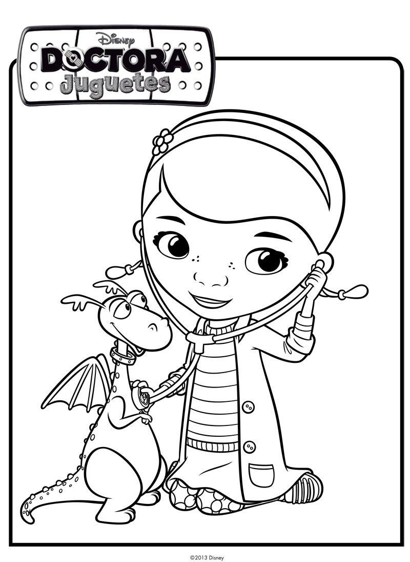 Dibujo De La Doctora Juguetes Con Un Dragon Dibujos De Disney