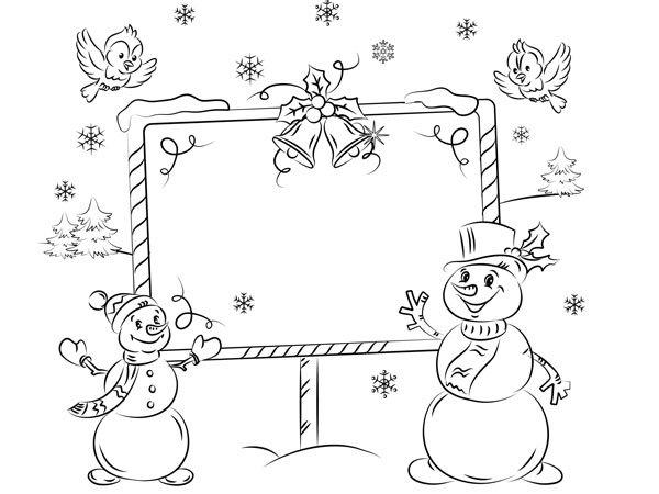 Mu ecos de nieve en navidad para colorear - Nieve para arbol de navidad ...