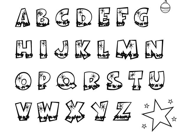 Dibujo de las letras del abecedario - Imagui