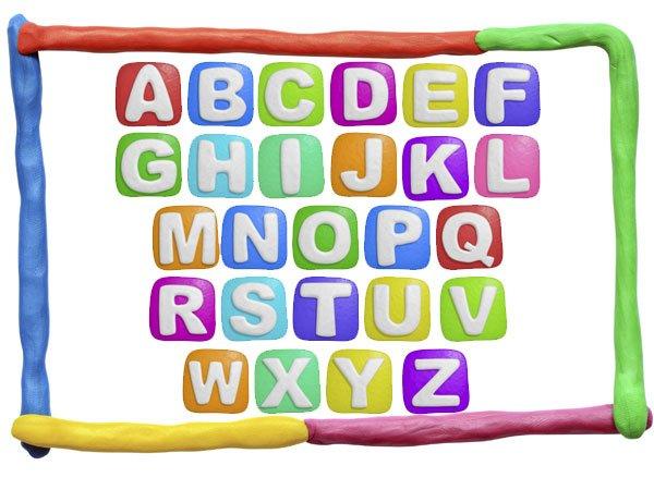 Letras de colores abecedario - Imagui