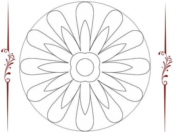 Mandalas De Flores Para Colorear Faciles Imagui