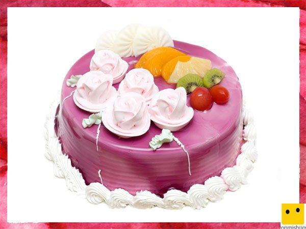 Heaven & Hell 666-4-tartas-para-la-primera-comunion-de-los-ninos-pastel-con-frutas