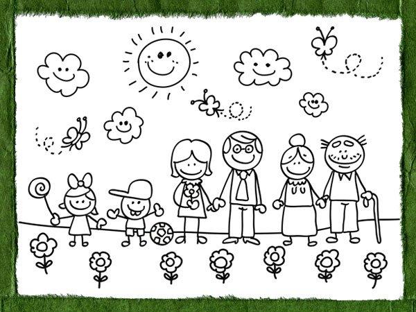 Dibujos De Familia Para Ninos