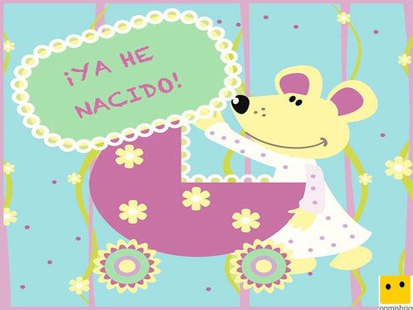 18 tarjetas para imprimir y anunciar el nacimiento del bebé