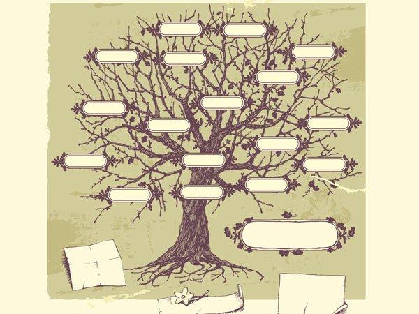 Modelo de arbol genealogico para imprimir gratis - Imagui
