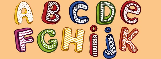 Fichas con las letras del abecedario