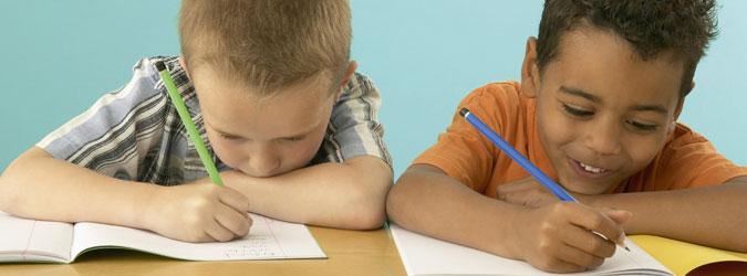Fichas de las vocales. Tareas escolares de lectoescritura