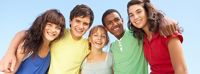 Amigos en la adolescencia