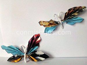 Mariposas de revista, manualidad de papel para niños