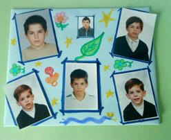 Collage de fotos infantiles. Manualidades para niños de papel