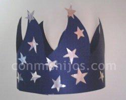 Corona de Rey Mago. Manualidades de Navidad para niños