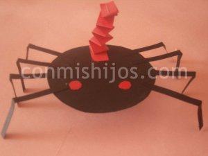 Araña de Halloween. Manualidades con papel