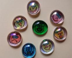 Imanes de caritas. Manualidades decorativas para niños