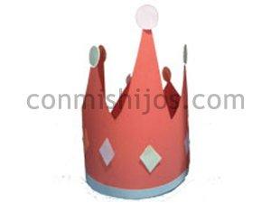Corona de reyes. Manualidad de Carnaval para hacer con niños