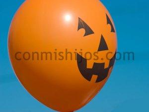 Calabaza globo. Manualidades de Halloween para niños