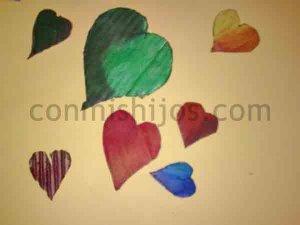 Corazones decorativos. Manualidades de San Valentín para niños