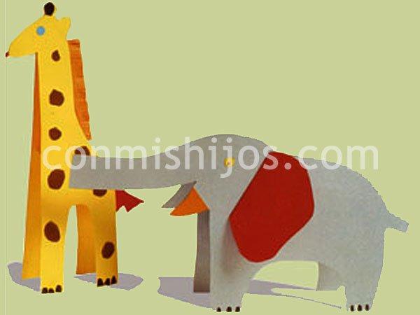 Animales de papel. Manualidades para niños