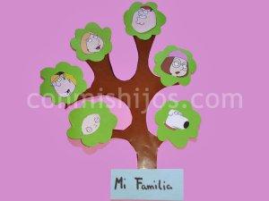 Árbol genealógico. Manualidades con cartulina para niños