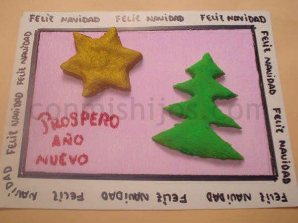 Con hojas otono para escribir infantil ninos kamistad - Manualidades infantiles para navidad ...