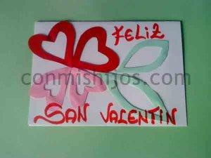 Tarjeta de San Valentín. Manualidades de amor para niños