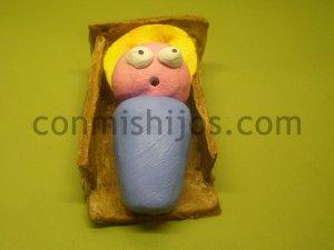 Niño Jesús en su cuna. Figuritas del Belén