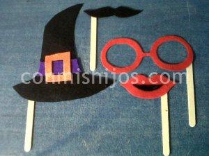 Disfraces con palitos de polo. Manualidades de Carnaval para niños