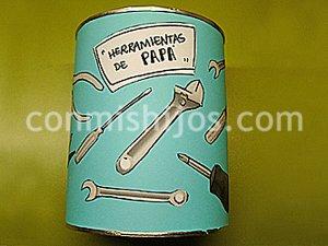 Caja de herramientas. Manualidad infantil para papás