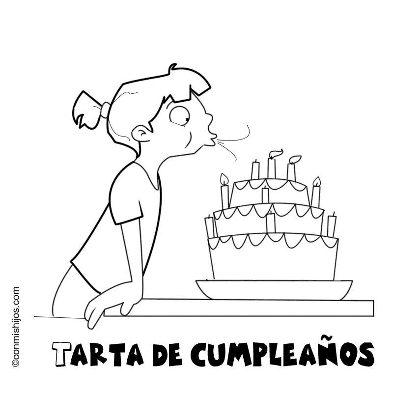 Tartas de cumpleaños para dibujar - Imagui