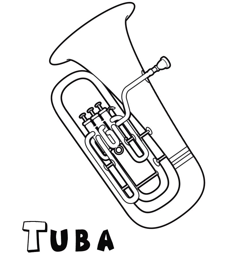 tuba coloring pages - photo#9