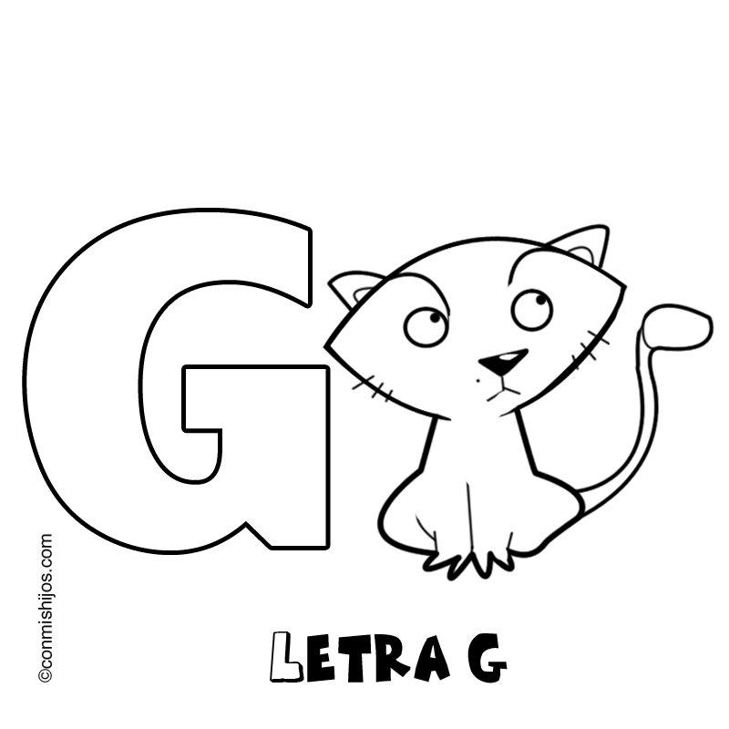 Dibujos Para Imprimir Con La Letra G