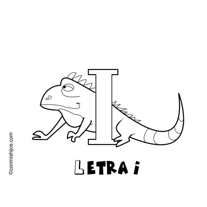 Letra I: Dibujos para colorear