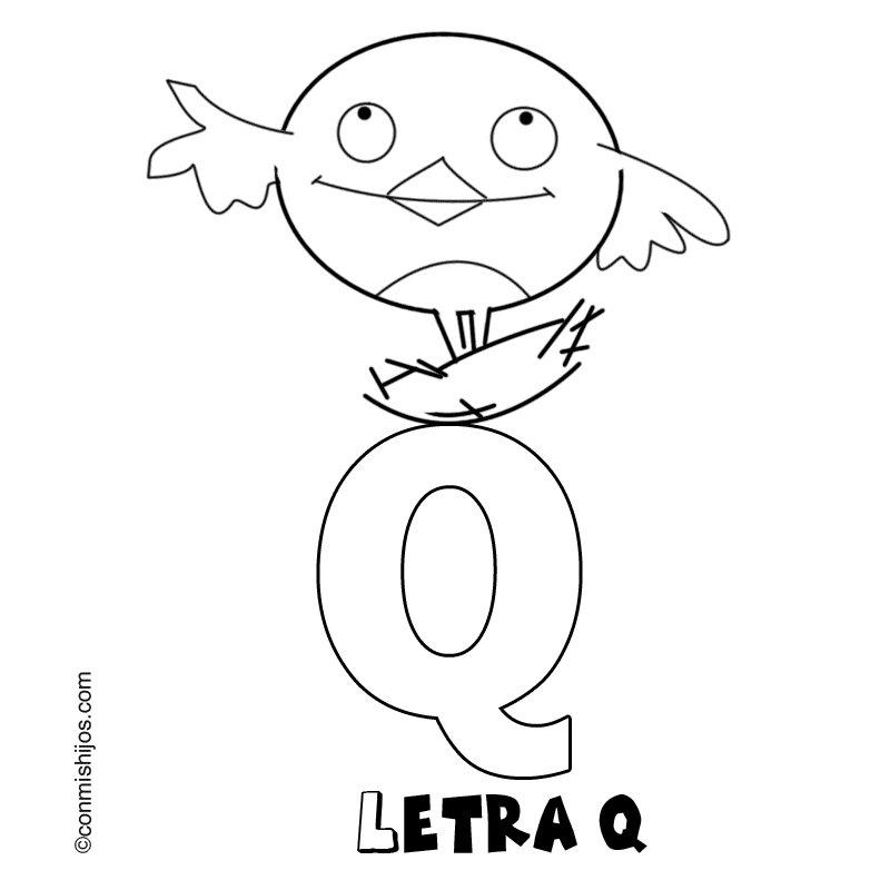 Letra Q: Dibujos para colorear