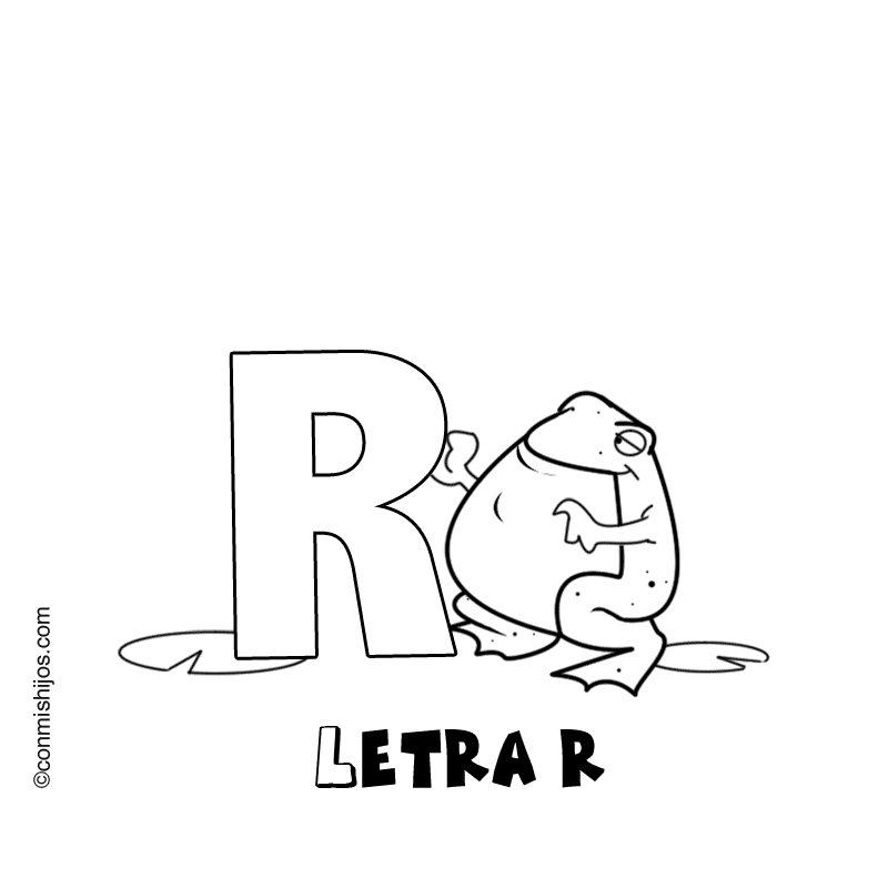 Letra R: Dibujos para colorear
