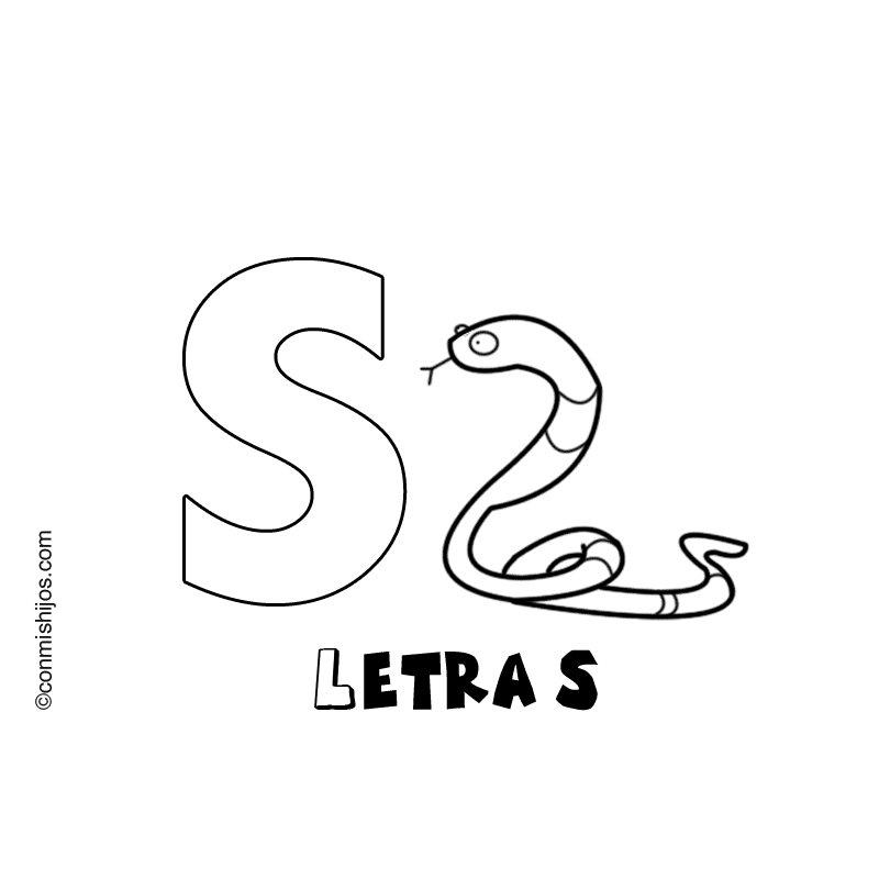 Letra S: Dibujos para colorear