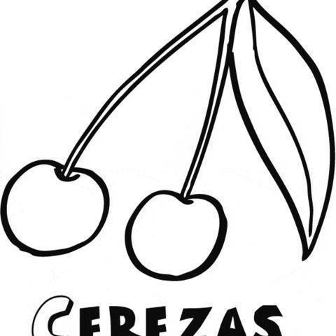 Cerezas: Dibujos para colorear