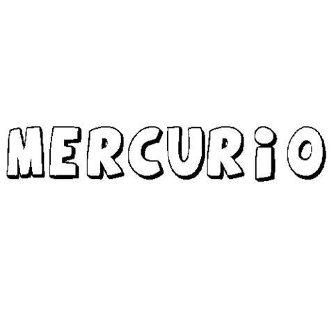 MERCURIO: Dibujos para colorear