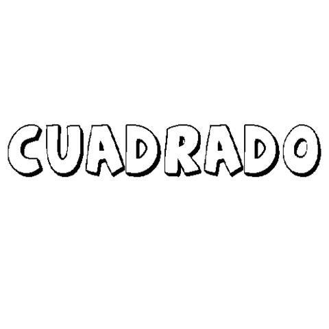 CUADRADO: Dibujos para colorear