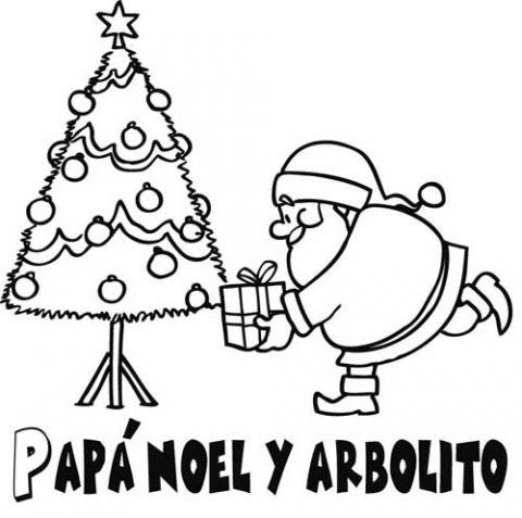 colorear papa noel: