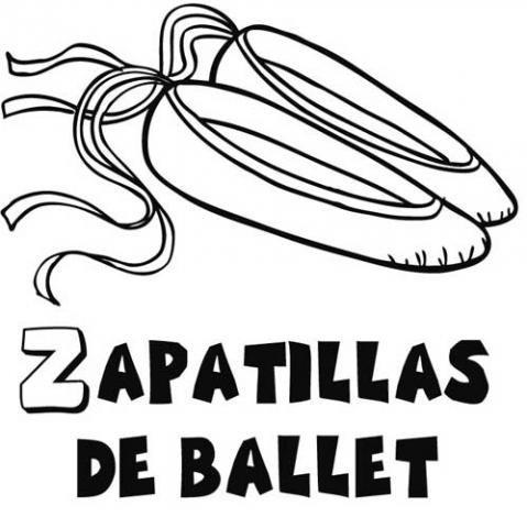 dibujo zapatilla ballet: